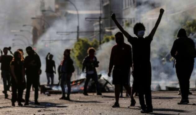 Las protestas en Valparaiso (Chile)