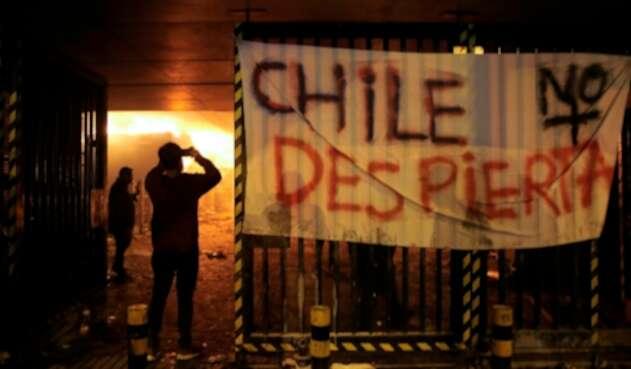 Las protestas en Santiago de Chile, capital del país