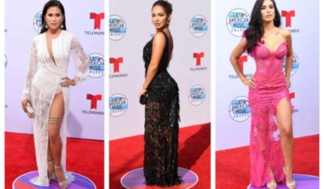 Greeicy Rendón, Kimberly Reyes y Jessica Cediel en los Latin AMAs 2019