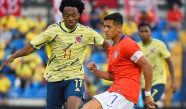 Alexis Sánchez ante Colombia en amistoso