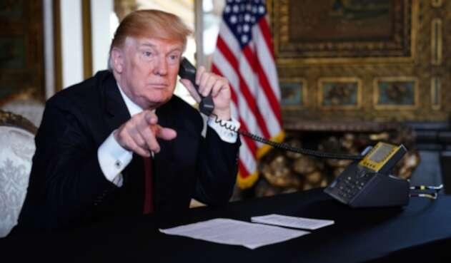 Donald Trump, presidente de Estados Unidos, en la Casa Blanca, ubicada en Washington (Estados Unidos)