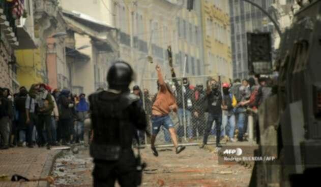 Protestas violentas en Ecuador