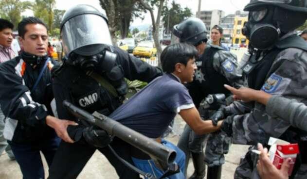 Disturbios en protestas en Ecuador