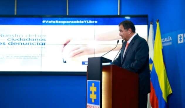 Fabio Espitia, fiscal general (e.) sobre capturas y delitos electorales.