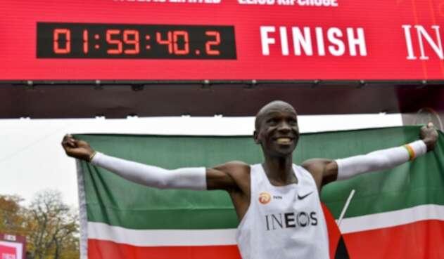 Eliud Kipchoge, atleta keniano, en Viena (Austria)