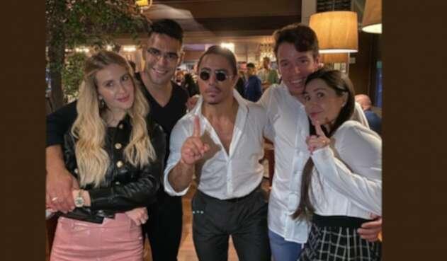 Comilona de infarto entre Facao García y Rigoberto Urán con el chef Salt Bae
