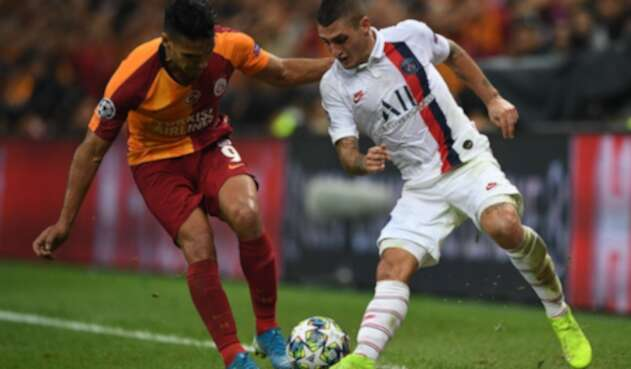 Falcao jugando en la liga de Turquía
