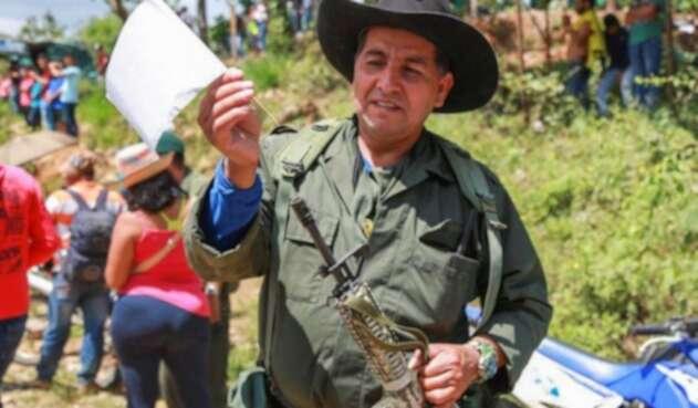 Alexander Parra, conocido como Rodolfo Fierro excombatiente de las extintas Farc, asesinado en el municipio de Mesetas (Meta).