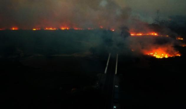 Incendio en Pantanal brasileño