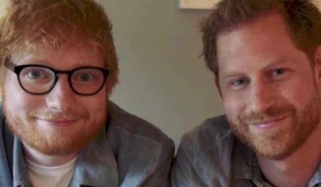 El príncipe Harry y el cantante Ed Sheeran