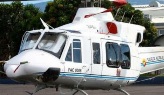 Helicóptero de la FAC accidentado