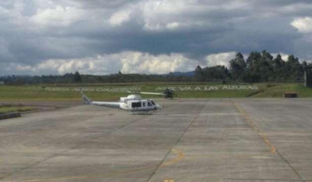 Helicóptero que llevó al papa Francisco