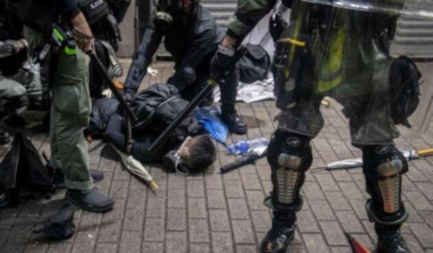 Protestas violentas en Hong Kong