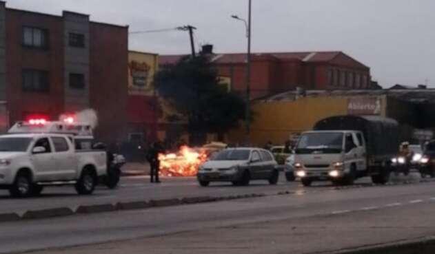 Incendio en la carrera 30, Bogotá