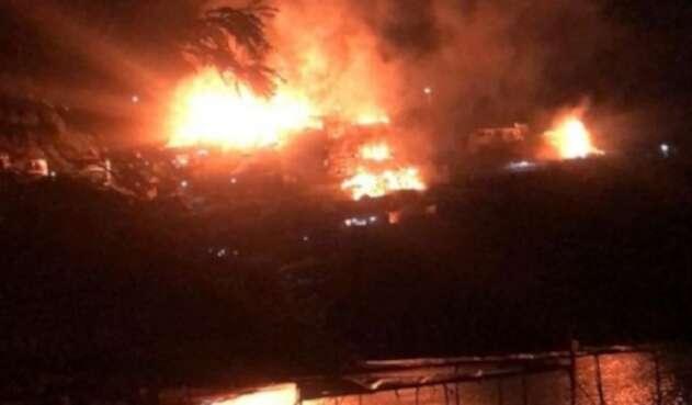 Incendio en Taganga