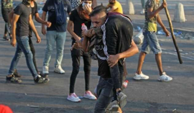 Violentas protestas en Irak