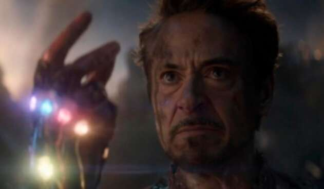 El actor Robert Downey Jr. Iron Man en Avengers Endgame