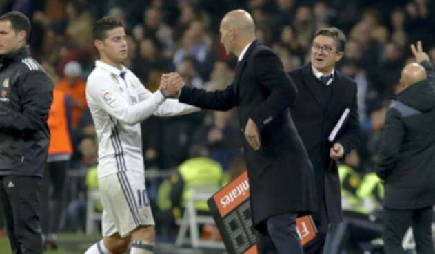 James Rodríguez y Zidane en el Real Madrid