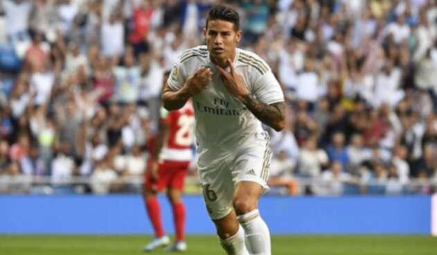 James Rodríguez, jugador del Real Madrid