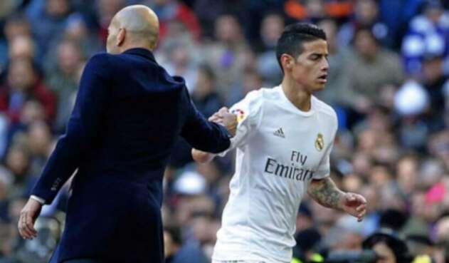 James Rodríguez y Zidane