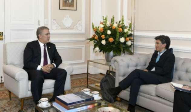 Iván Duque reunido con Claudia López, alcaldesa electa de Bogotá.