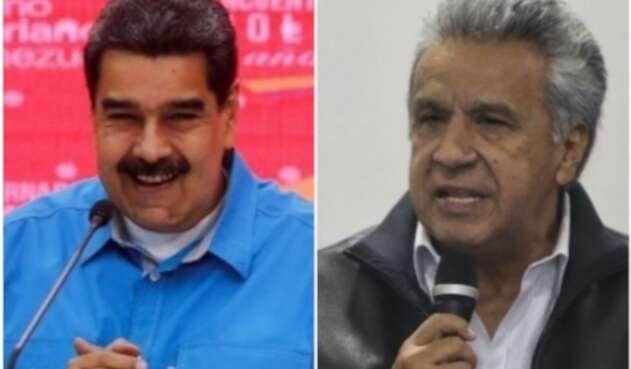 Nicolás Maduro y Lenín Moreno