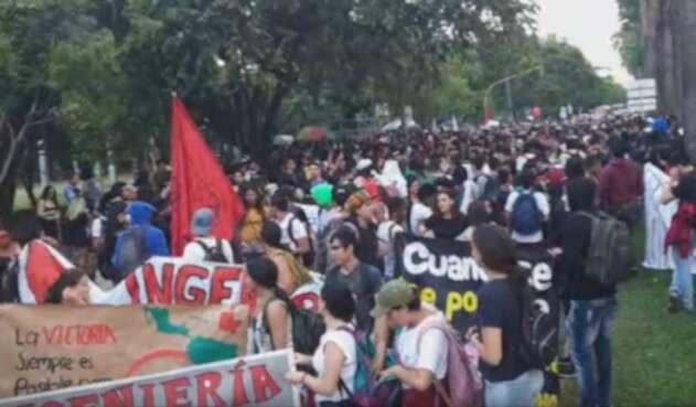 Marchas estudiantiles Cali