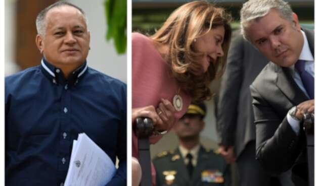 Diosdado Cabello y Marta Lucía Ramírez