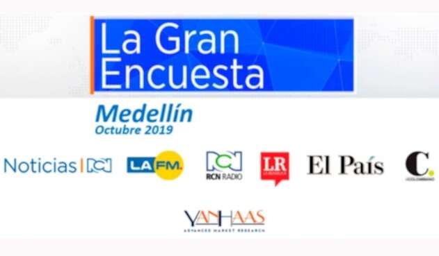 Imagen de La Gran Encuesta sobre intención de voto en Medellín