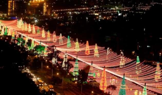 Medellín, en medio de sus tradicionales alumbrados navideños