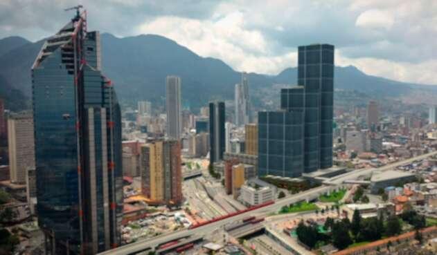 Un render del Metro de Bogotá cruzando la calle 26