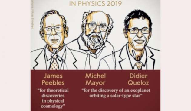 James Peebles, Michel Mayor y Didier Queloz, premios Nobel de Física 2019