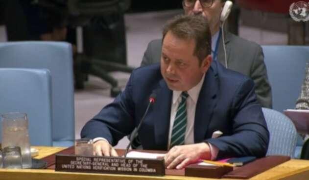 Jefe de la Misión de Verificación de la ONU, Carlos Ruiz Massieu