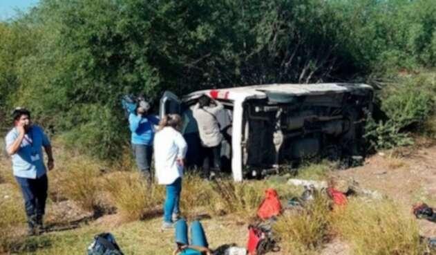 Periodistas mexicanos sufren accidente
