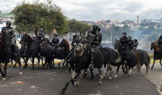 Fuerzas del orden en Quito, ante la alteración del orden público