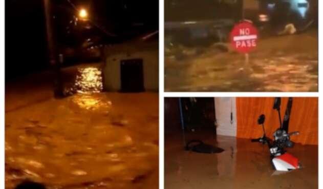 Inundaciones por desbordamiento de río en Apartadó, Antioquia.