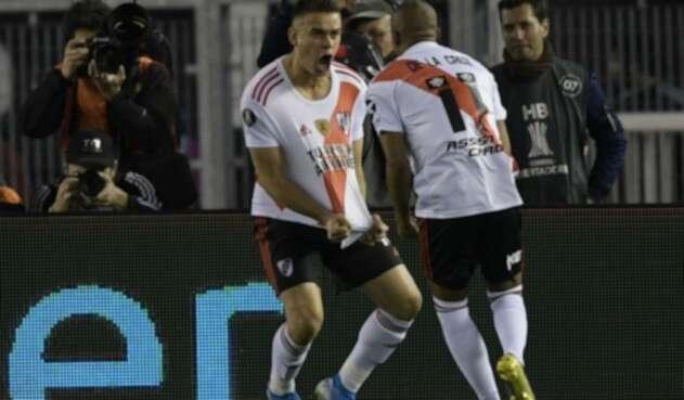 Rafael Santos Borré en clásico River vs Boca Juniors