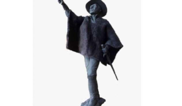 El Simón Bolívar con ruana de Zipaquirá