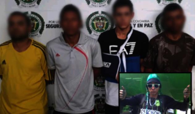 Estas son los 4 capturados, y el joven asesinado