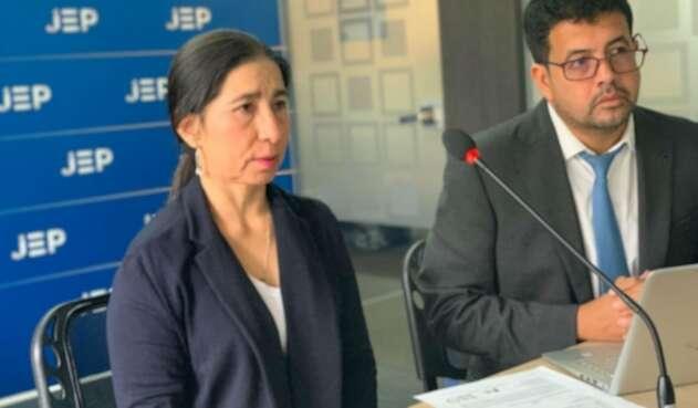 Alias Sonia se presentó en la JEP