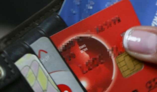 Foto de referencia de tarjetas de crédito