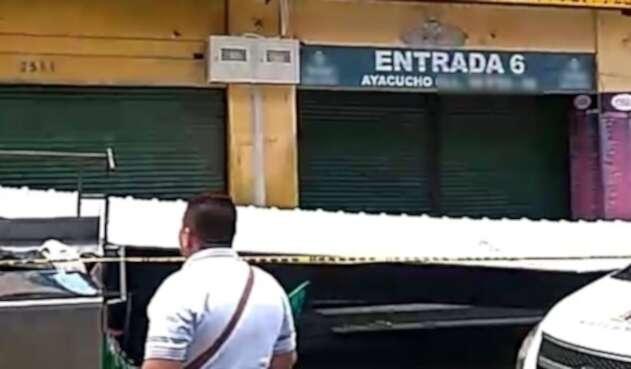 Techo caído en el centro de Medellín