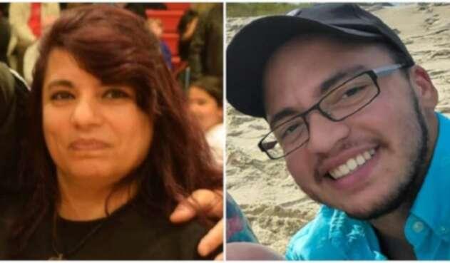 Tina Bejarano y su hijo
