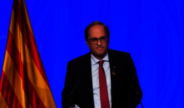 Quim Torra, presidente de Cataluña