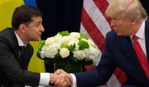 Donald Trump reunido con el presidente de Ucrania, Volodímir Zelenski