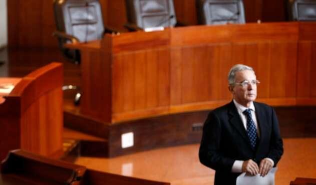 El expresidente Álvaro Uribe, el 29 de julio de 2016 en la Corte