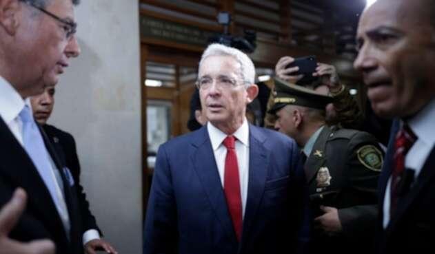 El expresidente Álvaro Uribe Vélez en la Corte Suprema de Justicia