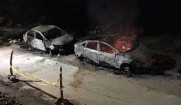 Vehículos quemados