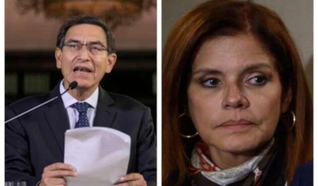 Martín Vizcarra y Mercedes Aráoz