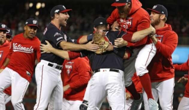 Washington Nationals luego de coronarse campeones de la Liga Nacional y clasificar a la Serie Mundial de Béisbol